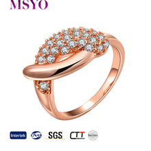 MSYO brand zircon pave lovely small dolphin design 18k gold plated ring