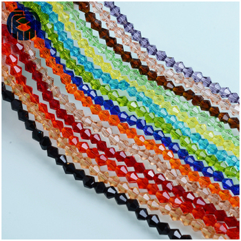 Hotsale pujiang 4mm crystal bicone beads for jewelry making