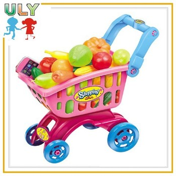 funny plastic shopping cart toys colorful baby shopping cart toy