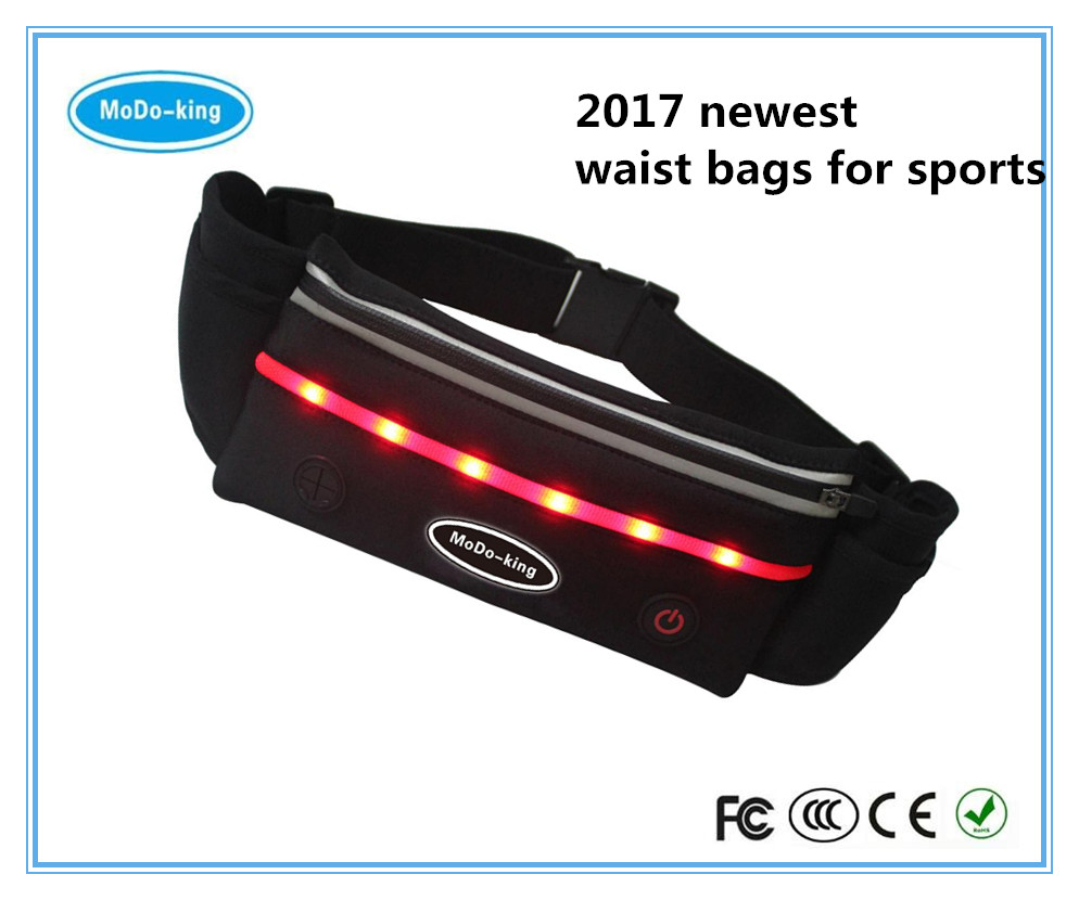 2017 lightweight 5 pockets new designed sports waist bag medical waist bag