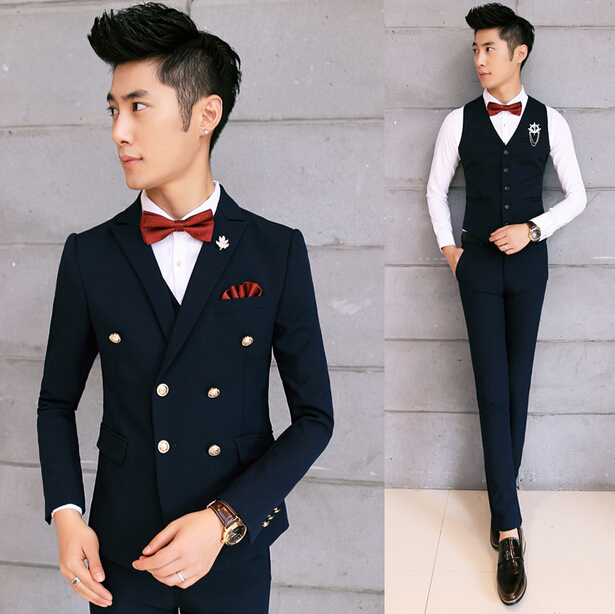 Spring And Summer Men Wedding Suit Set Casual Men Suit Slim Fit Business Suit
