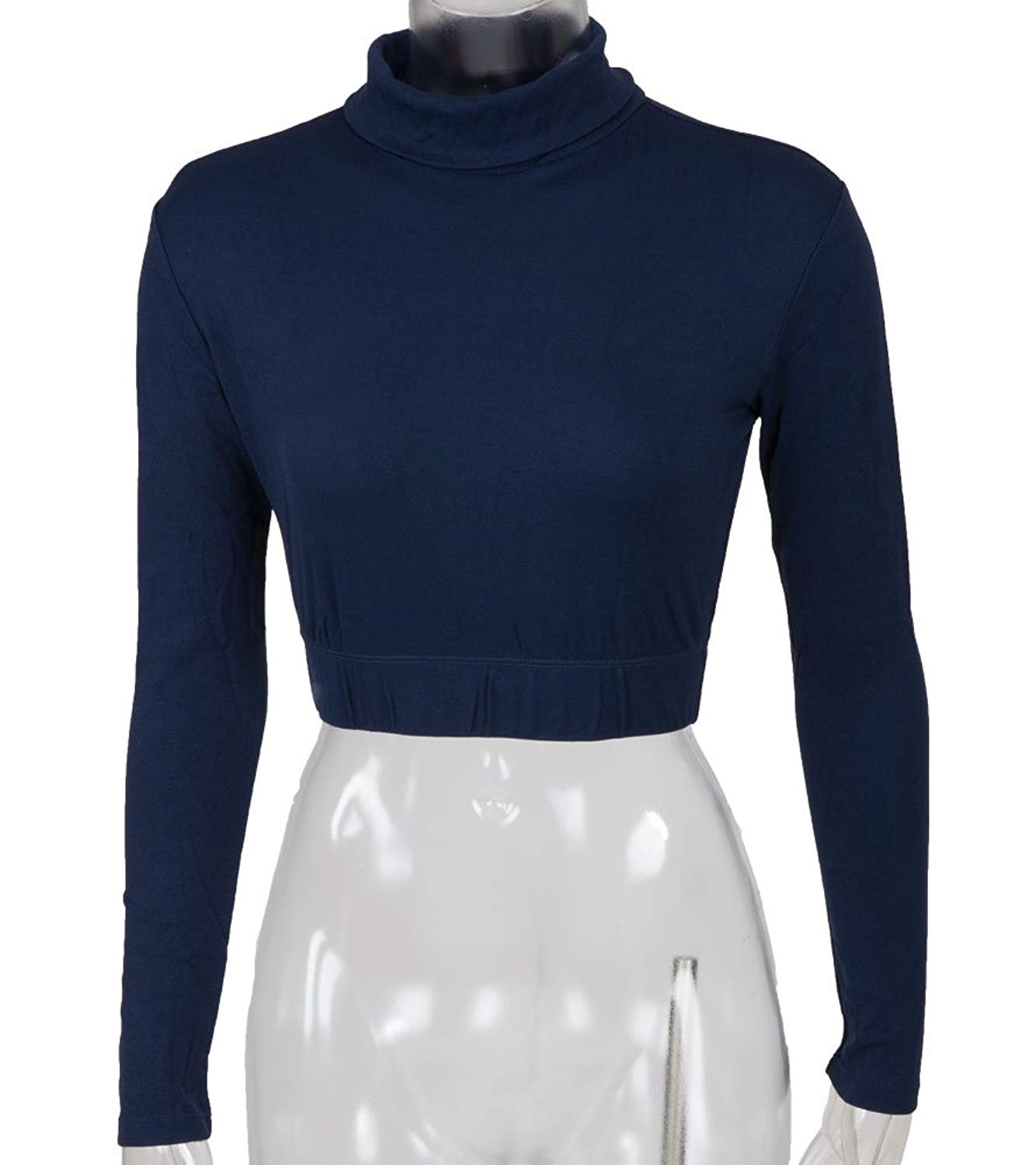 bbc52281fd Get Quotations · Cheer Fantastic Turtleneck Midriff Size Youth Small Navy