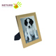 Matted Gold Plastic Photo Picture Frame for Table or Wall Party Decoration