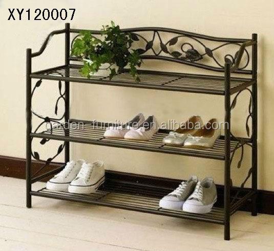 Xy5141 casa risparmio di spazio organizzatore 4 tier for Zapateras de metal