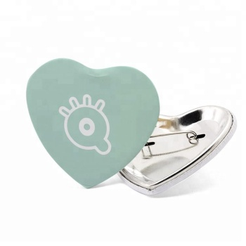 Custom Logo Heart Shaped Buttons Pin Back Badge - Buy Heart Shaped Buttons  Pin Back,Pin Buttons,Button Badge Product on Alibaba com