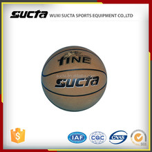 Professional laminated PU leather basketball for out training