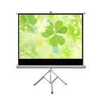 72'' 84'' 100'' 120'' inch Self Standing Tripod Projector Screen, Portable 3D Movie Projection screen