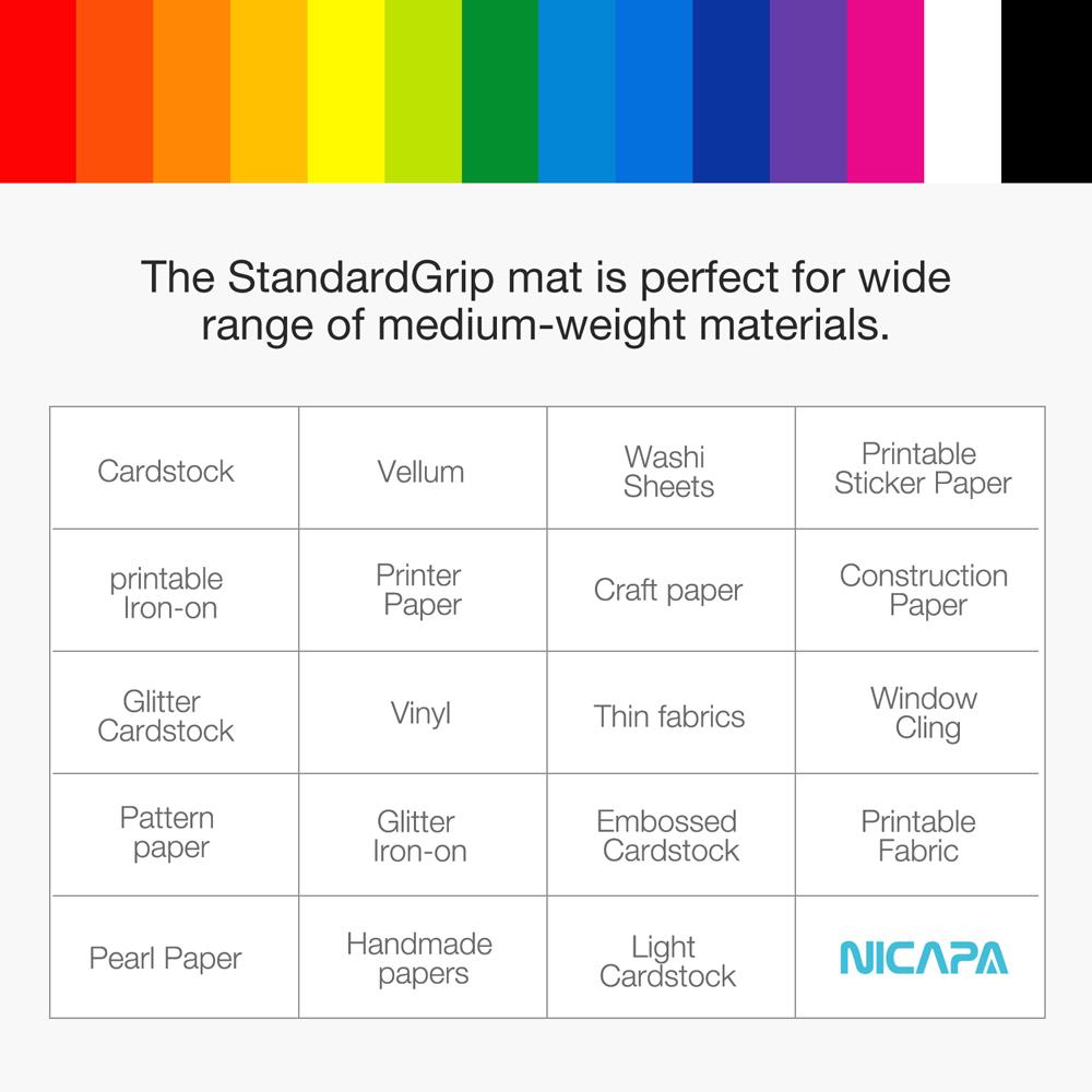 nicapa plotter cutting mat for Silhouette machine, 12 x 24 inch, standard-grip,1 pcs/pack