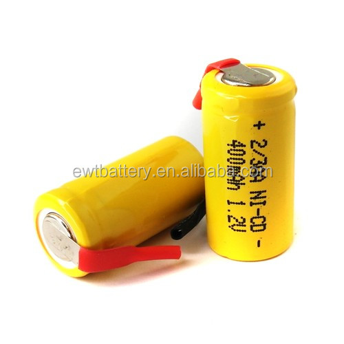 Wholesale price 1.2v ni cd battery ni-cd 1/2aa 330 360mah rechargeable battery 1.2v