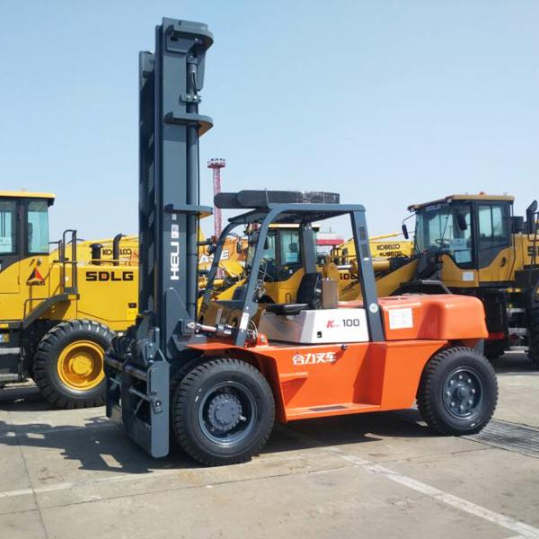Chine machine de chariot élévateur HELI CPCD100 lourde 10 tonnes chariot élévateur
