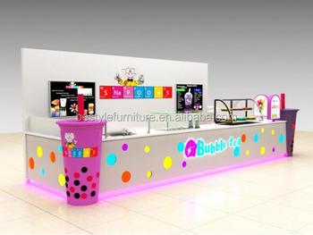 Summer hot sale bubble tea kiosk babo tea booth station with