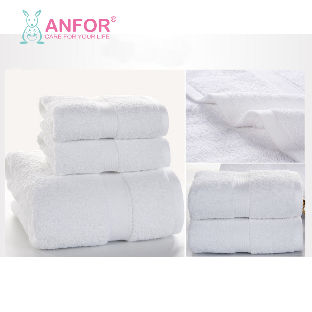 Hot new 100% cotton plain woven hotel hand towel white color towel