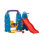 Mini Color Baby Play House Indoor Slide And Swing Playground Toys for Sale