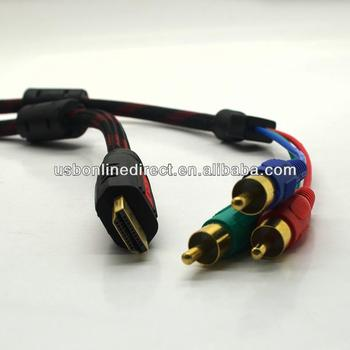 Hdmi / Mini Hdmi To 3 Rca Video Component Cable 1.5m - Buy Hdmi To ...