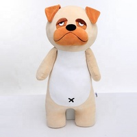 Best made toys custom dog stuffed animals wholesale cute smile small eyes soft plush dog doll toy