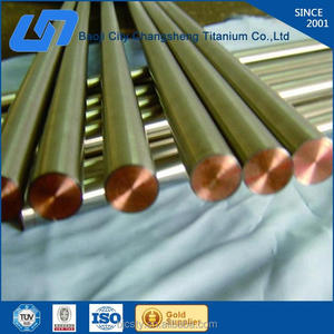factory price supply titanium clad copper bar for anode manufacture in China