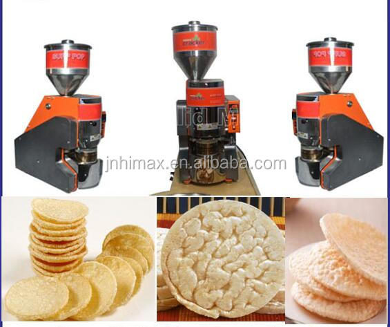 Hot sale Mini Puffed Rice snack food Cake Making machines with cheap price