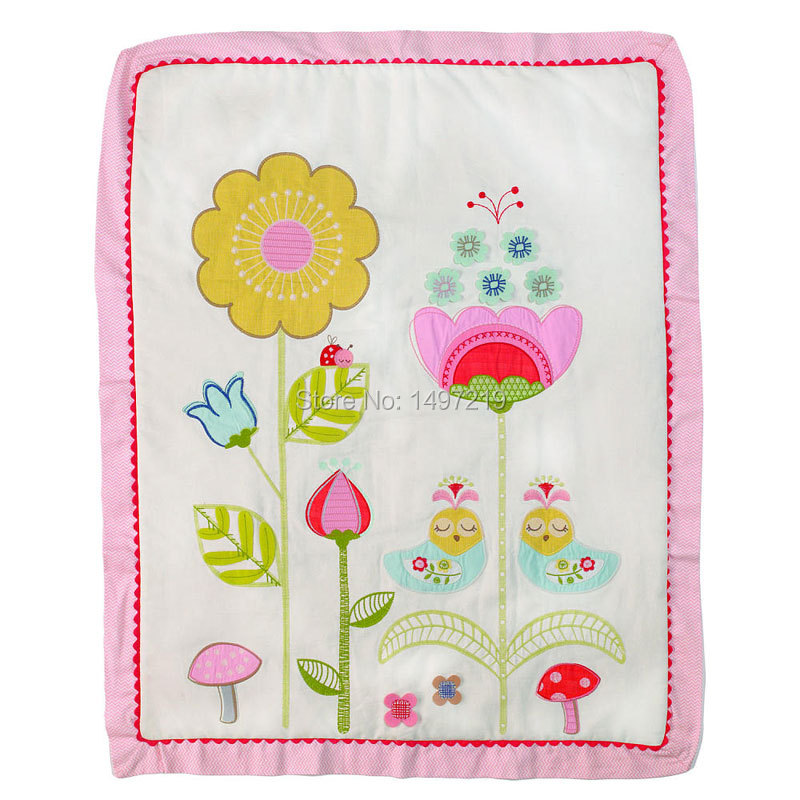 Embroidery Crib Comforter Sets Baby Quilts Birds And