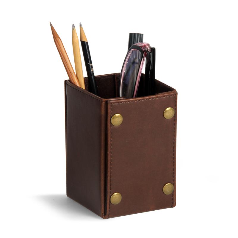Desk Organizer Plastic Pencil Box Stick On Desktop Makeup Storage Stationery Brush Pot Office Pen Holder Hot Sale 50-70% OFF Office & School Supplies Desk Accessories & Organizer