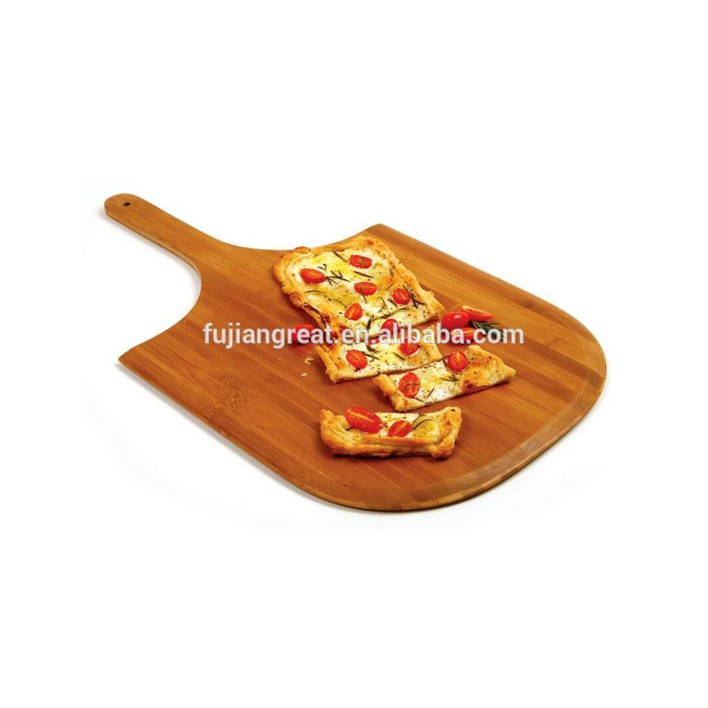 Gelap Carbonized Bambu Papan Pizza
