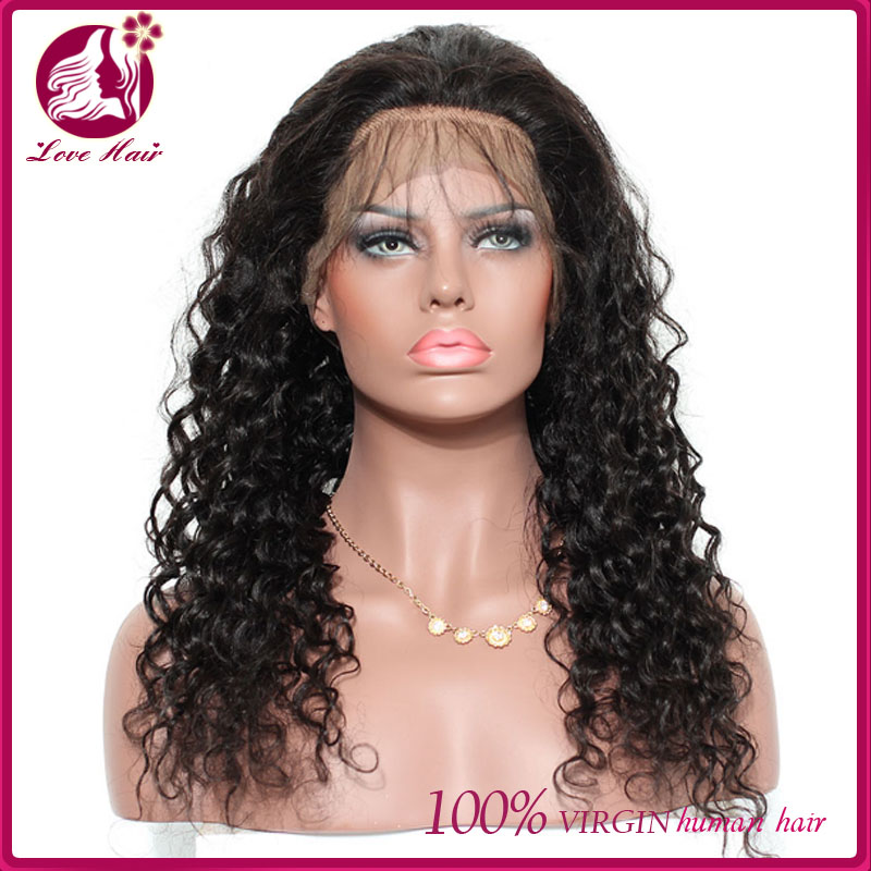 Cheap 360 Lace Frontal Wig Sew In deep curl 130 Density 360 Lace Human Hair  Wigs Pre Plucked 360 Lace Wigs With Baby Hair 1a17ee598