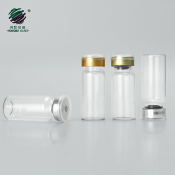 Clear glass tube bottle 10ml Vials With Rubber Stopper Flip Off Cap for Pharmaceutical Medical Liquid injection