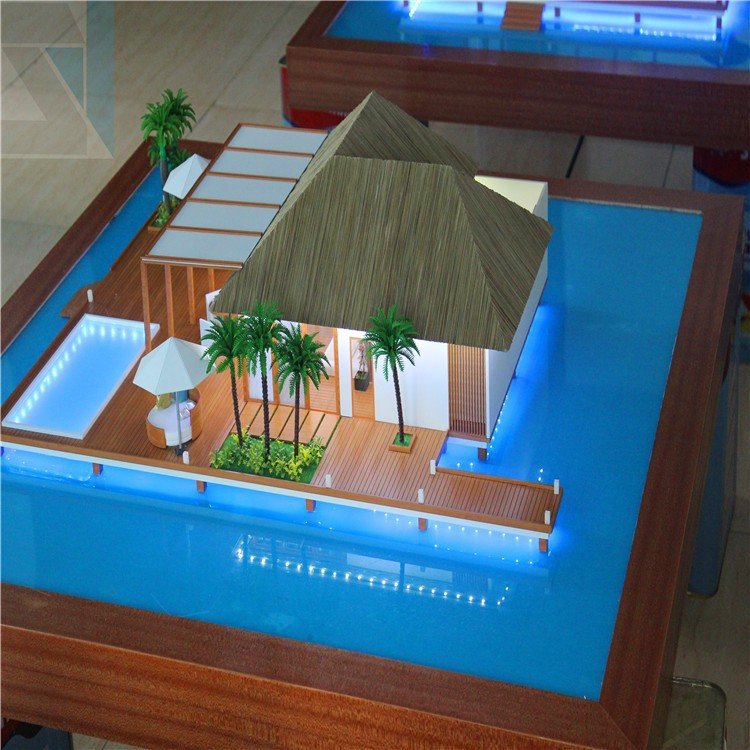 Architectural Design Of House 3d Visualization Miniature Zone Plan ...