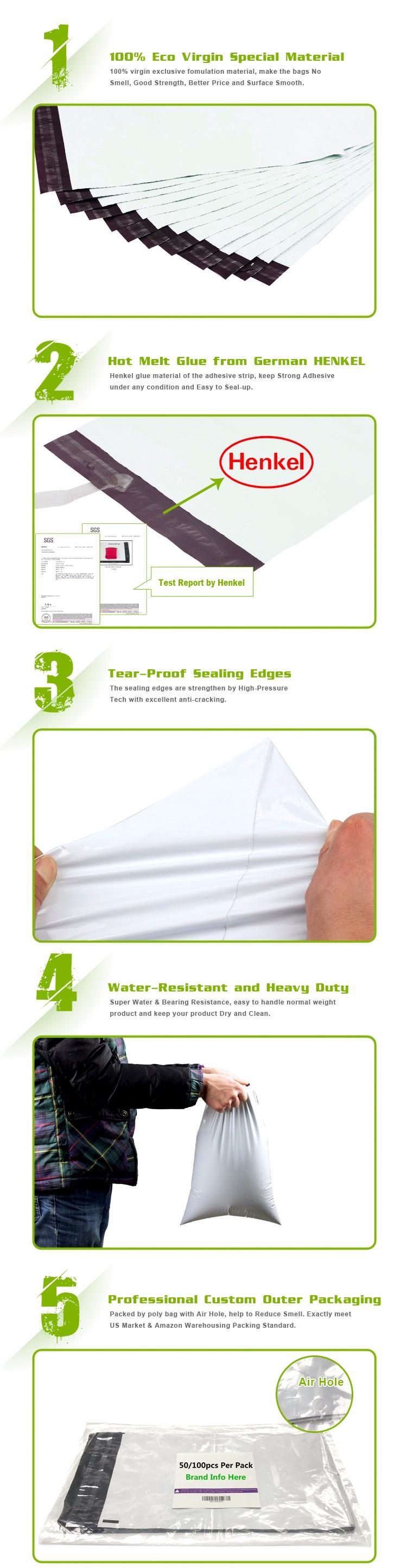 맞춤 디자인 친환경 핑크 Co 전 LDPE 폴리 메일러 배송 봉투 가방