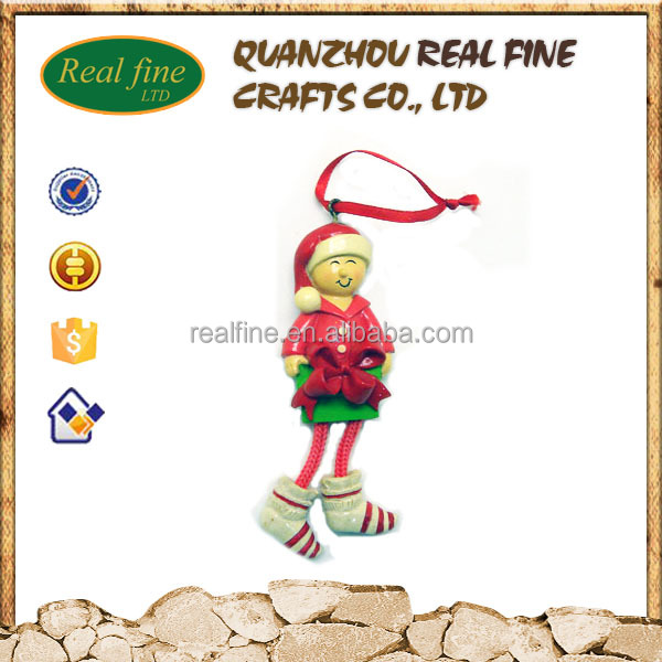 Wholesale resin christmas hanging ornaments for decor