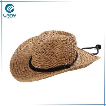 f50b5fd592389 Western Cowboy Hat Modern Wholesale Raffia Straw Fedora Hat ...