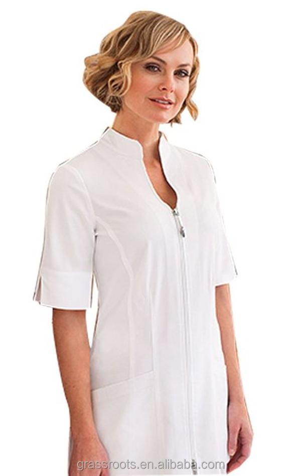 Custom dames midden mouw spa beauty salon uniform uniform for Spa uniform alibaba