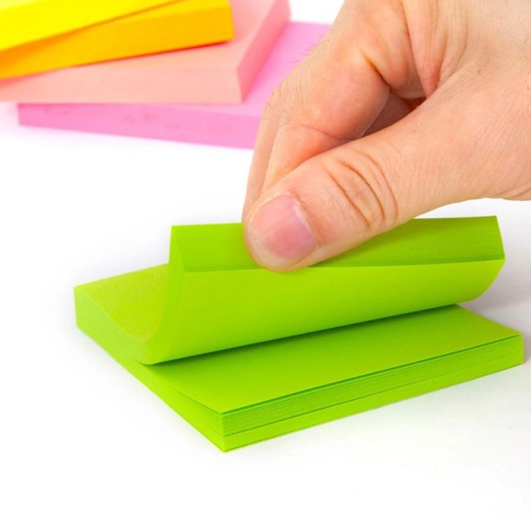 "Memo Bantalan Gaya 3 ""* 3"" 100 Sheet/PCS Kustom Logo OEM Dirancang Mini Colorful Sticky Notes memo Pad"