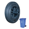 8 inch solid rubber wheels for wheels for trash bins