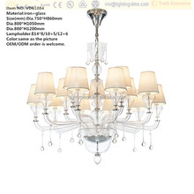 LED candle bulb/incandescents/with fabric Light Source crystal glass chandelier lights