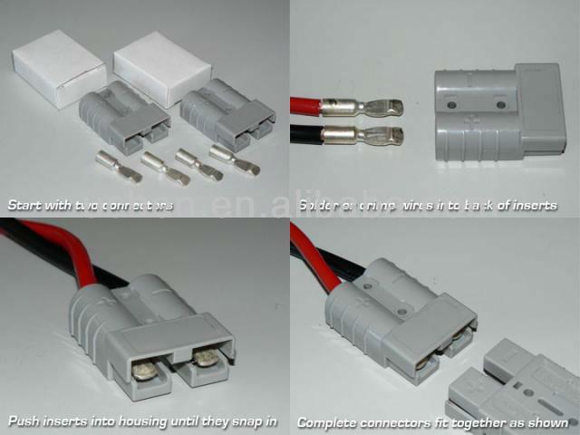 car battery charger automotive wiring connectors 12v dc socket 50amp