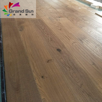 Interlocking White Wash Oak Engineered Wood Flooring