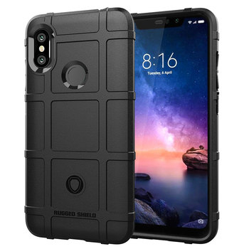 Rugged Shield Soft Back Case For Xiaomi Redmi Note 6 Pro Mobile Phone Cover