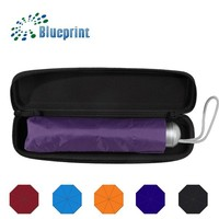 new arrival three folding super mini pocket umbrella with case from china BSCI supplier