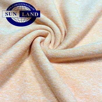 single jersey melange 14% spandex 86% polyester fabric for garment