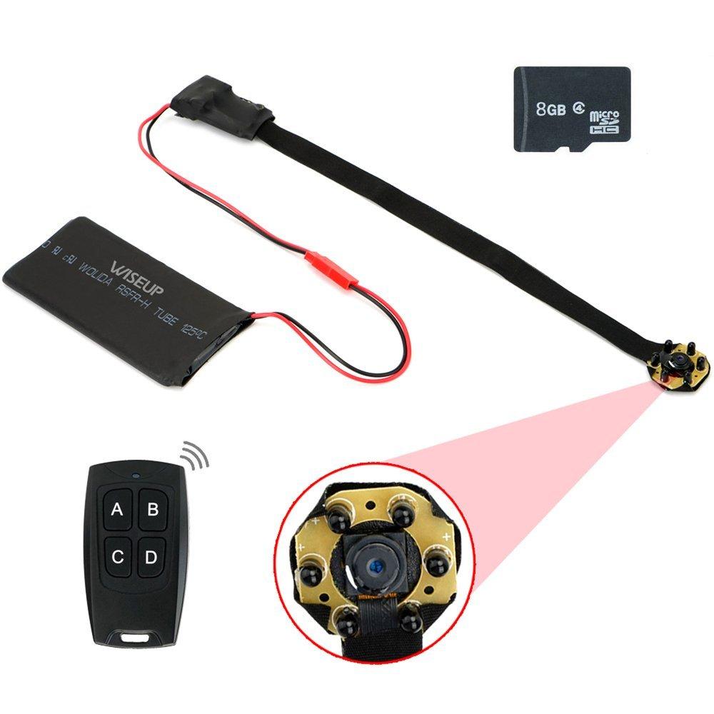 WISEUP 16GB 1920X1080P HD Mini Hidden Camera Portable Module Motion Detector Camcorder Video Recorder