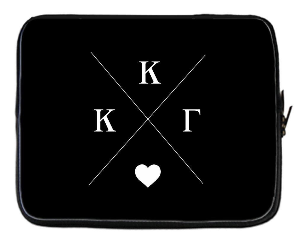 Kappa Kappa Gamma Hipster Logo Black Neoprene Sleeve Case for 15 inch Laptop Skin Cover for Acer/Apple/Asus/Lenovo/HP/Samsung & More