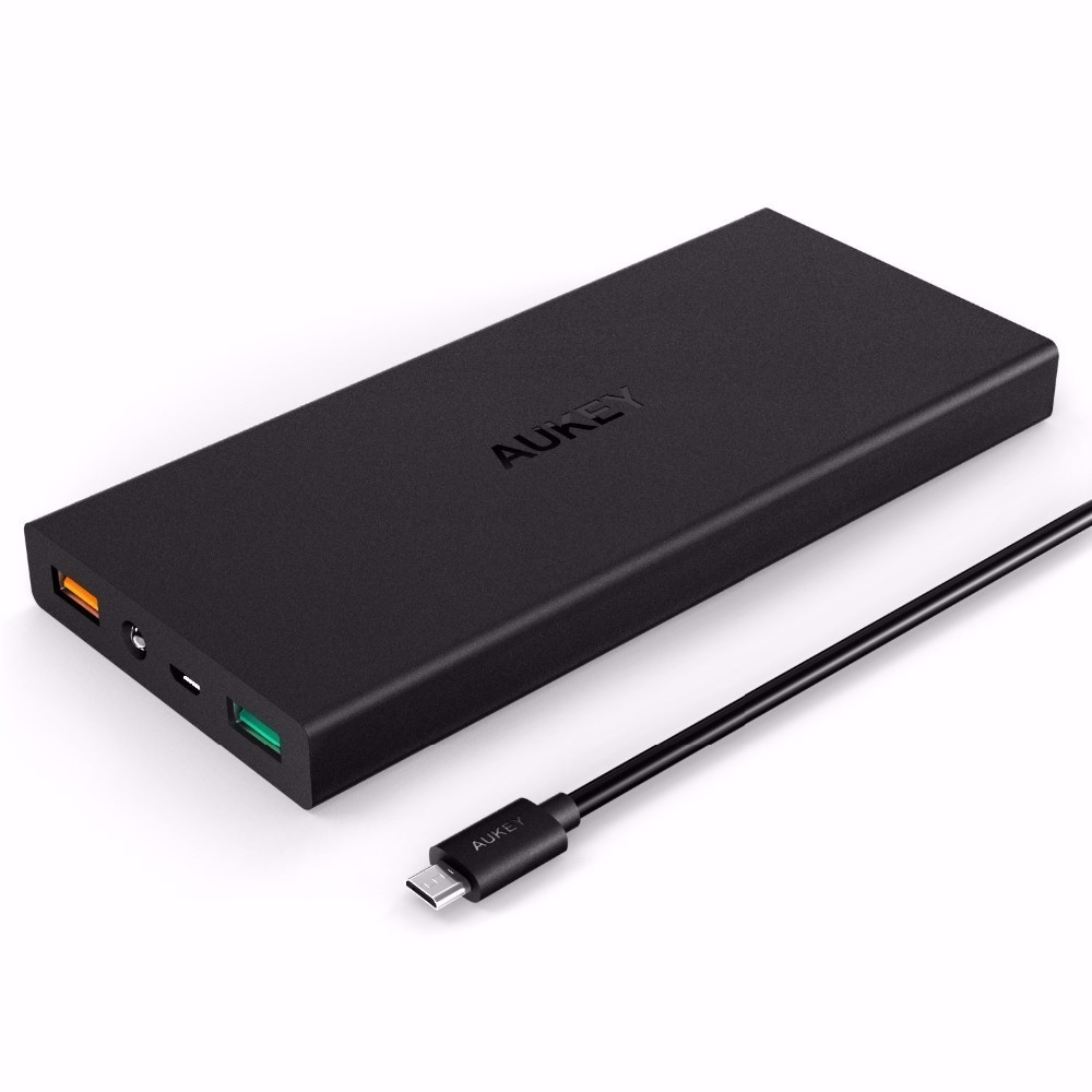 Aukey 16000mAh External Power Bank For Qualcomm Quick Charge 3.0 Universal Portable Charger External Battery for Xiaomi Mi5 Mi6