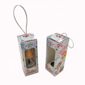 Small cheap nail polish paper box with window/lip stick color box printing,blusher box packaging