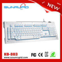 thickening black painted aluminum case led programmable gaming keyboard