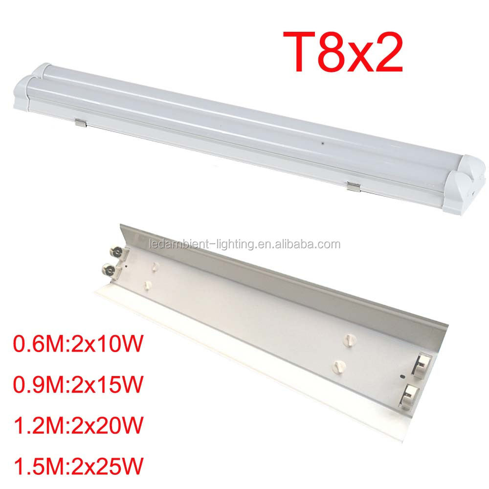 T8x2 integrated led double tube light fitting by low price ceiling office using shade buy double tube light fittingdouble tube lightdouble light