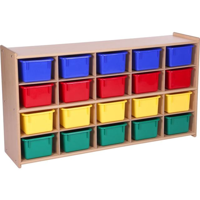 Kids Living Room Wooden Toy Chest Of 4 Drawers Children Toy