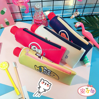 School Kid's PU Pencil Bag Cute Toothpaste Shaped Kawaii Pencil Case for Teens with Sharpener