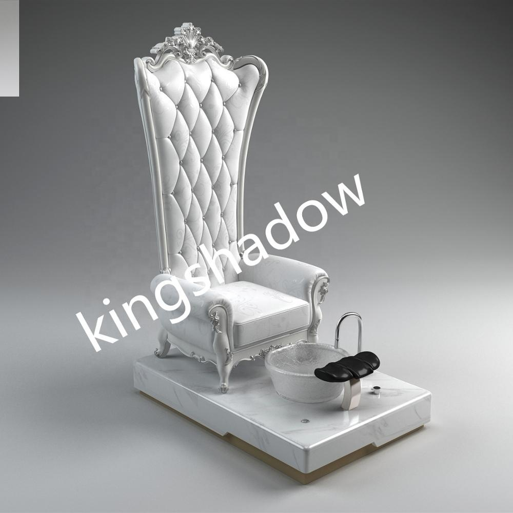 king throne crystal bowl pedicure chair Electric Foot Spa luxury Electric spa pedicure chairs