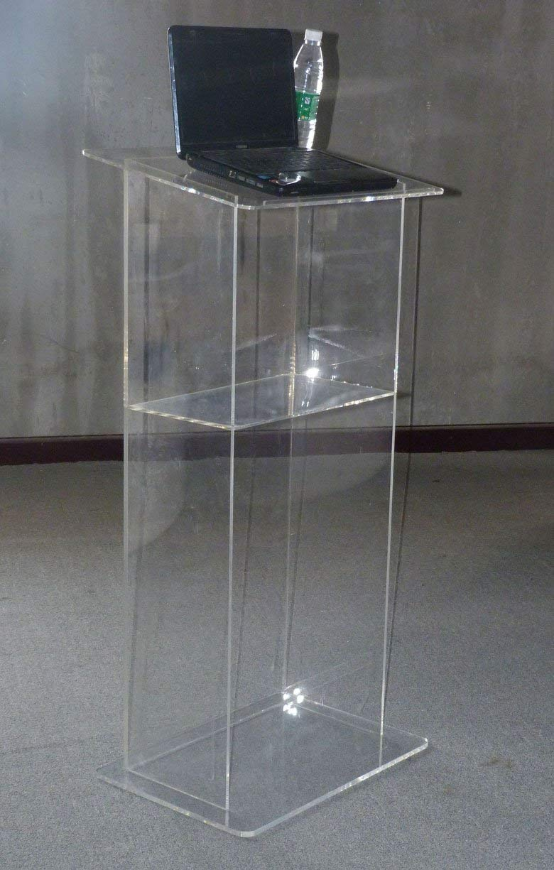 """FixtureDisplays Clear Acrylic Lucite Podium Pulpit Lectern 43"""" Tall 102703!"""