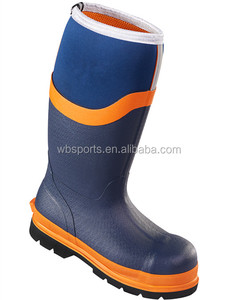 EN S5 HRO Mens Neoprene Safety Wellington Boots
